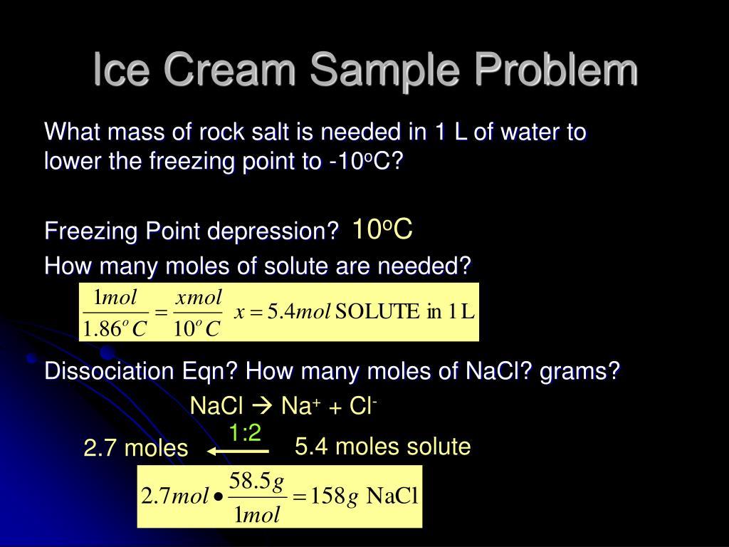 Ice Cream Sample Problem