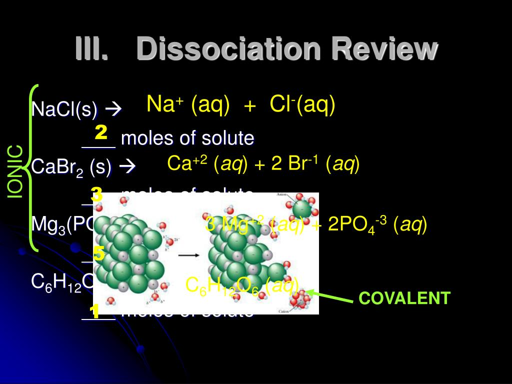 III.   Dissociation Review