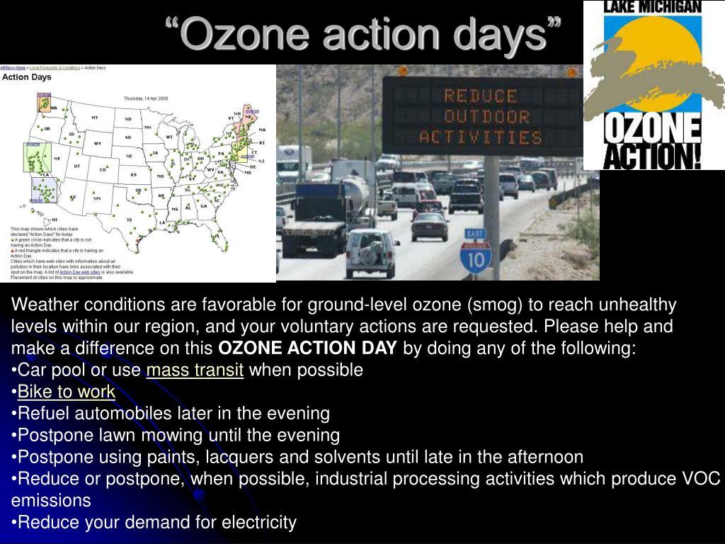 """Ozone action days"""
