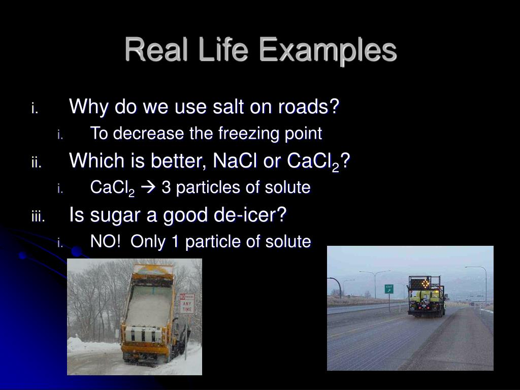 Real Life Examples