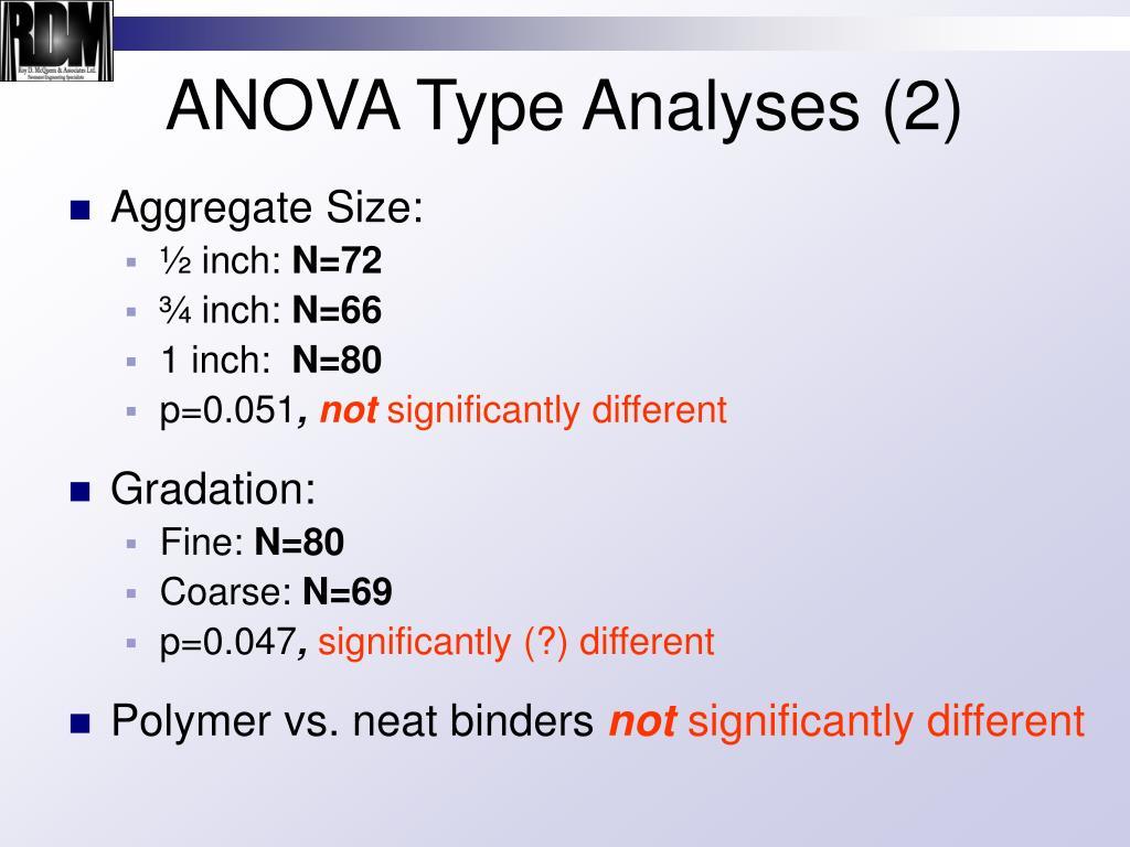 ANOVA Type Analyses (2)