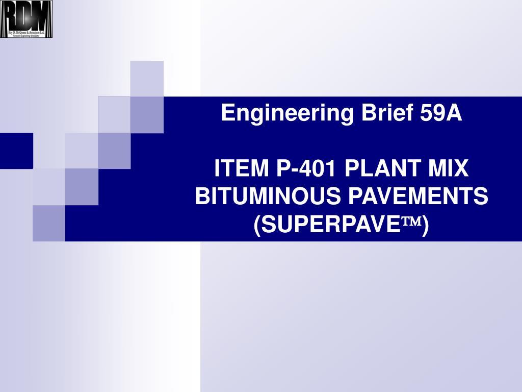 Engineering Brief 59A
