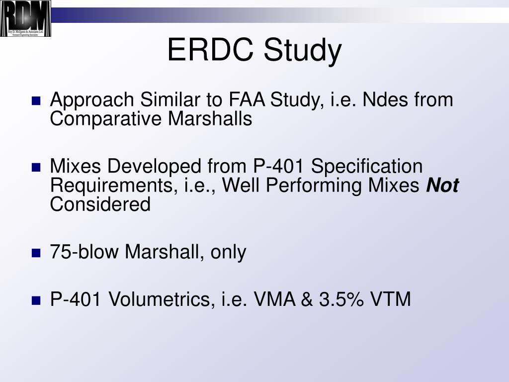 ERDC Study