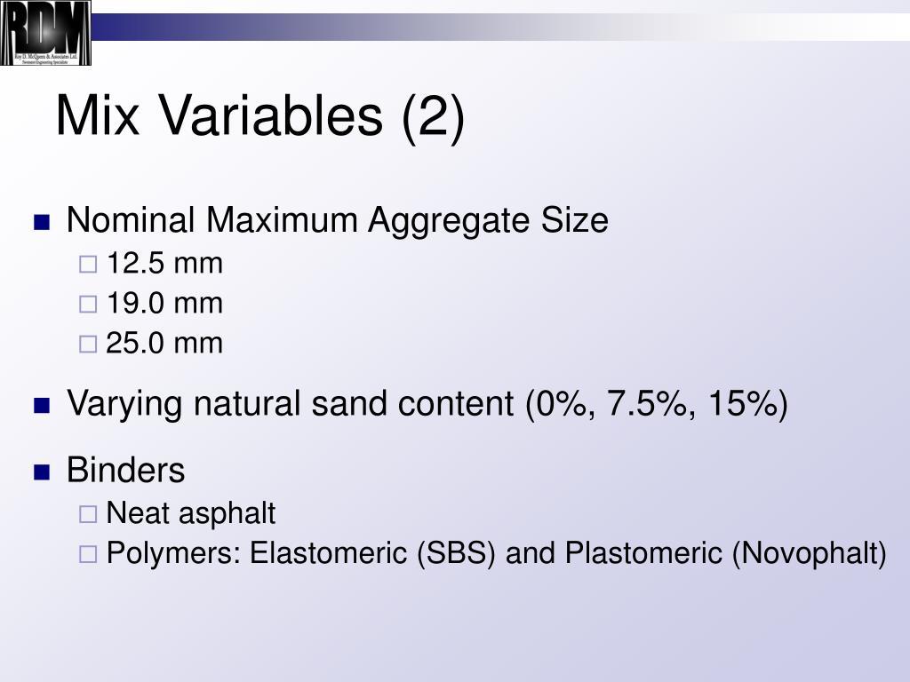 Mix Variables (2)