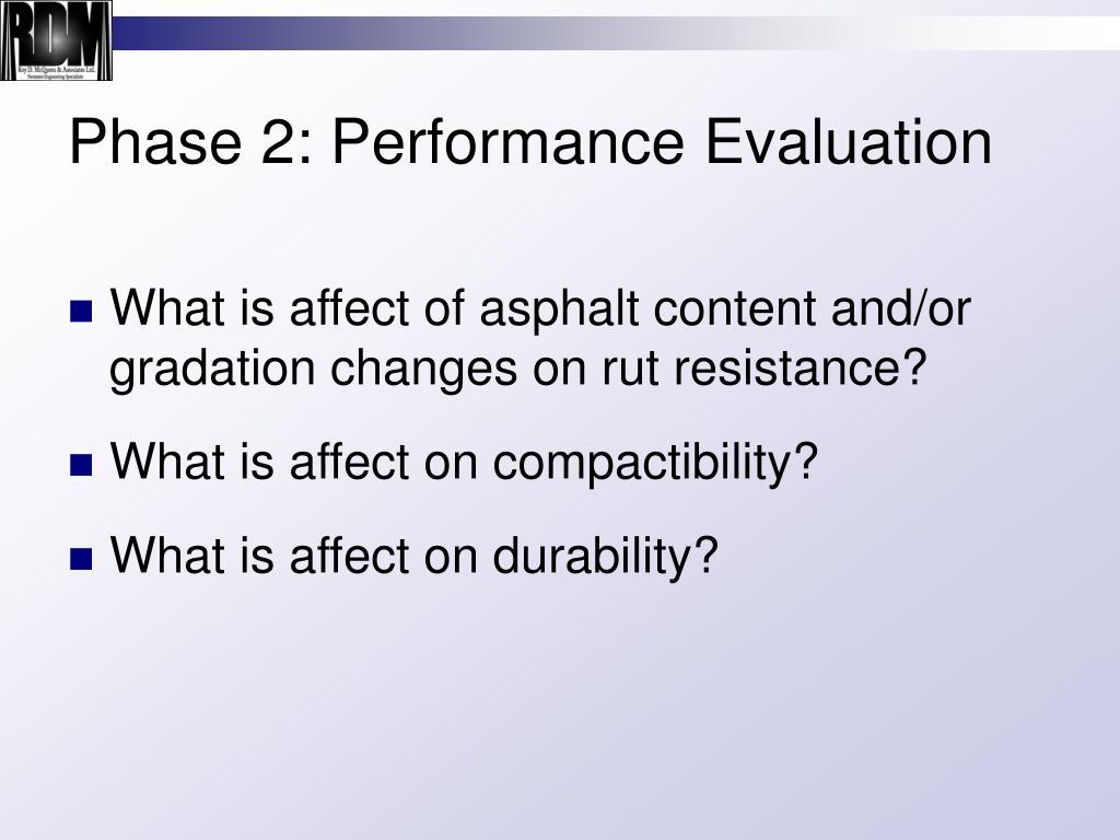 Phase 2: Performance Evaluation