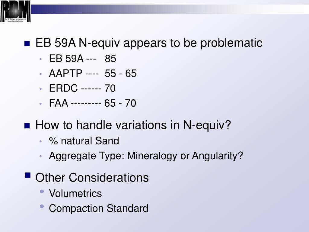 EB 59A N-equiv appears to be problematic