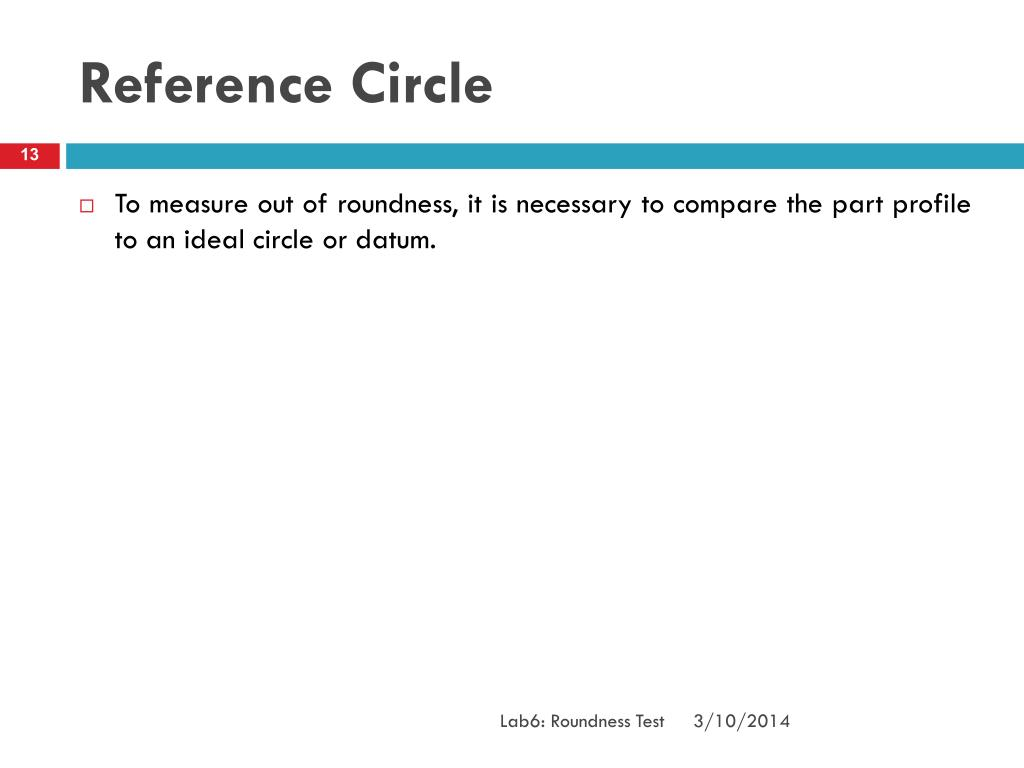 Reference Circle