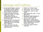 advantages and conditions