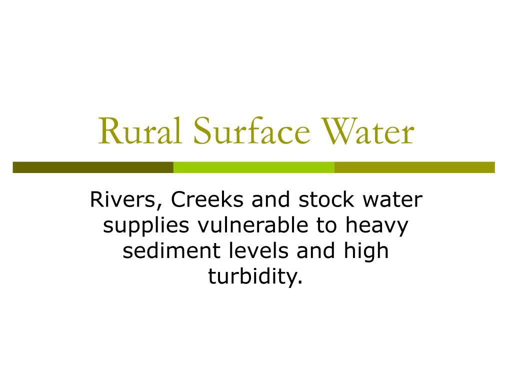 rural surface water