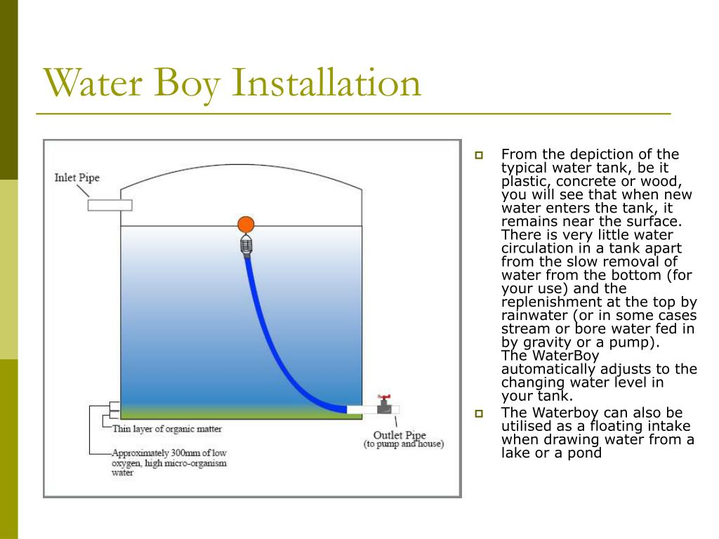 Water Boy Installation