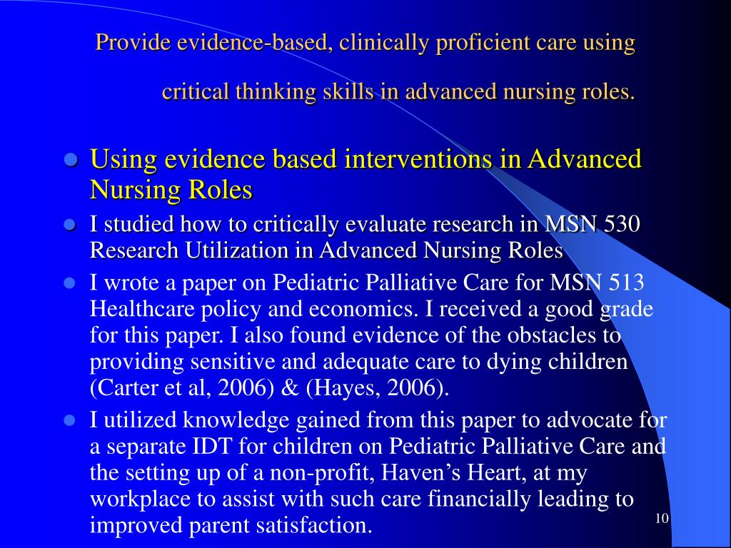 using critical thinking skills in nursing