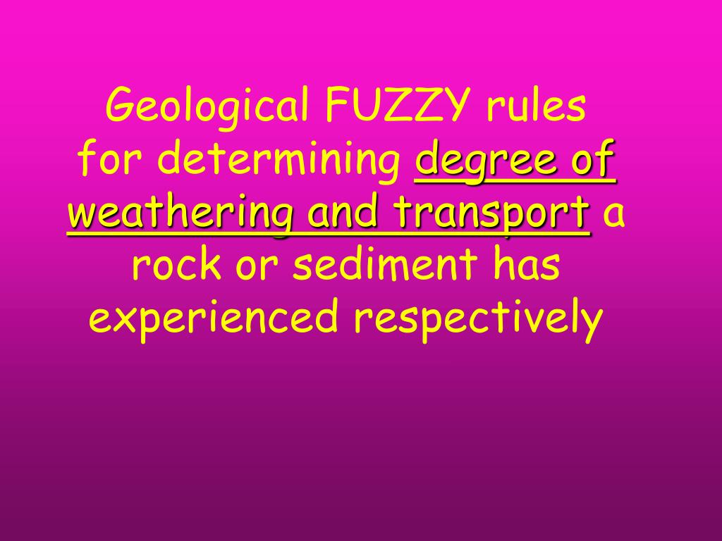 Geological FUZZY rules