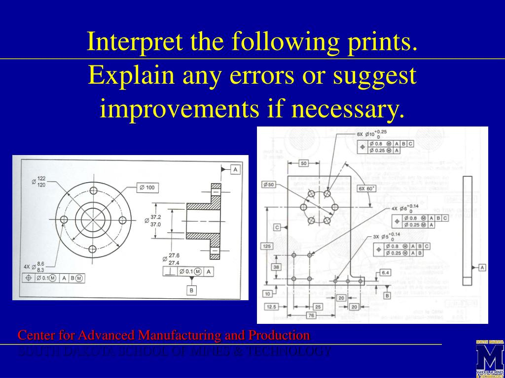 Interpret the following prints.  Explain any errors or suggest improvements if necessary.