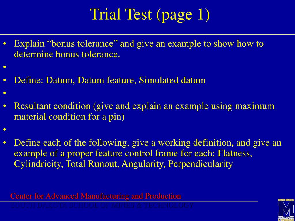 Trial Test (page 1)