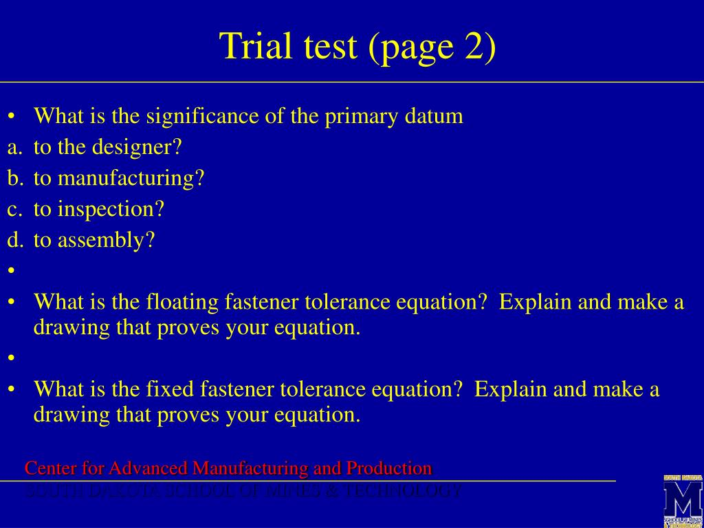 Trial test (page 2)