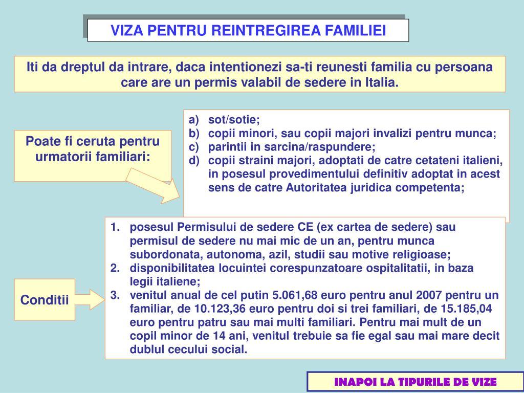VIZA PENTRU REINTREGIREA FAMILIEI