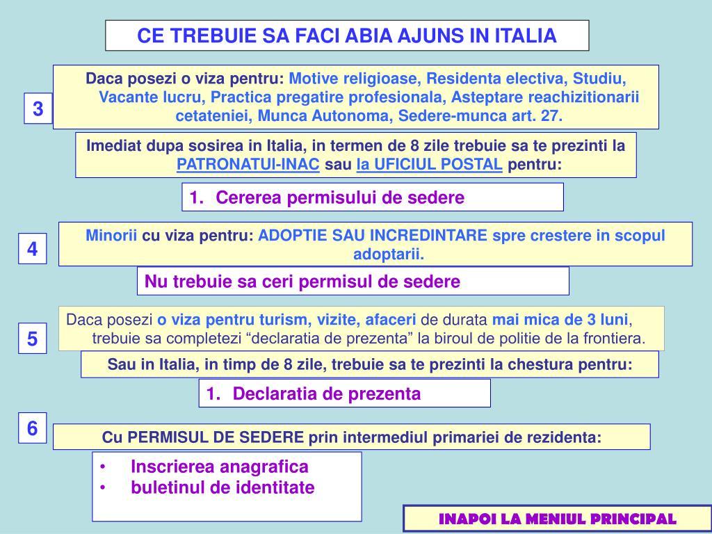 CE TREBUIE SA FACI ABIA AJUNS IN ITALIA