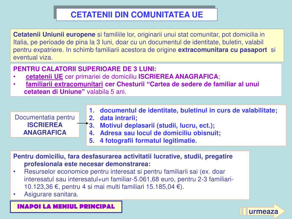 CETATENII DIN COMUNITATEA UE