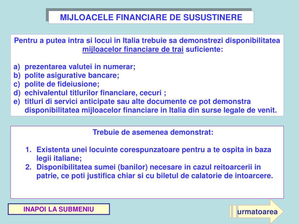 MIJLOACELE FINANCIARE DE SUSUSTINERE
