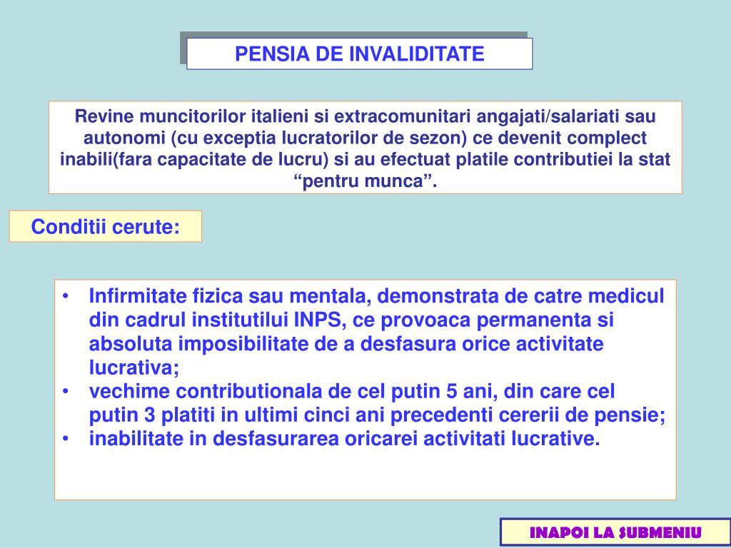 PENSIA DE INVALIDITATE