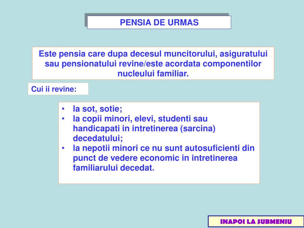 PENSIA DE URMAS