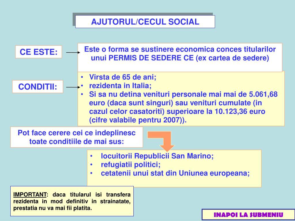AJUTORUL/CECUL SOCIAL