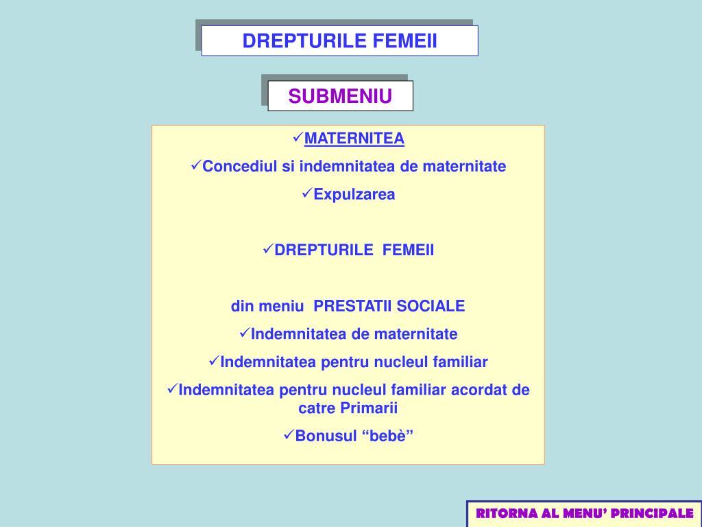 DREPTURILE FEMEII