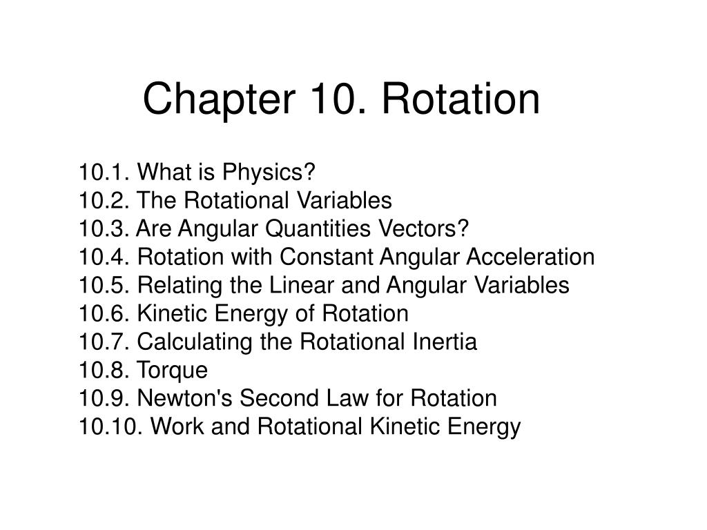 chapter 10 rotation