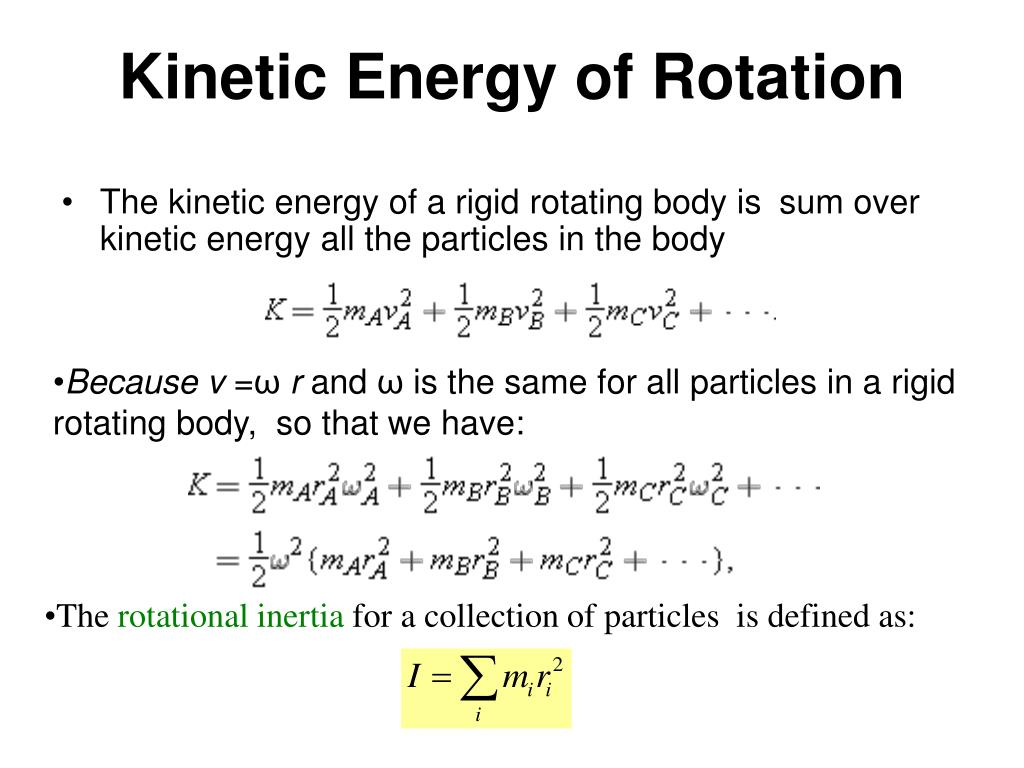 Kinetic Energy of Rotation