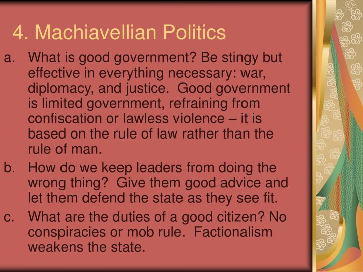 4. Machiavellian Politics