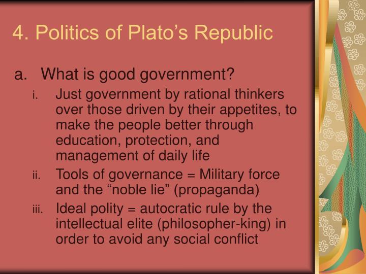 4. Politics of Plato's Republic