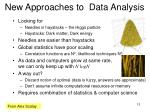 new approaches to data analysis