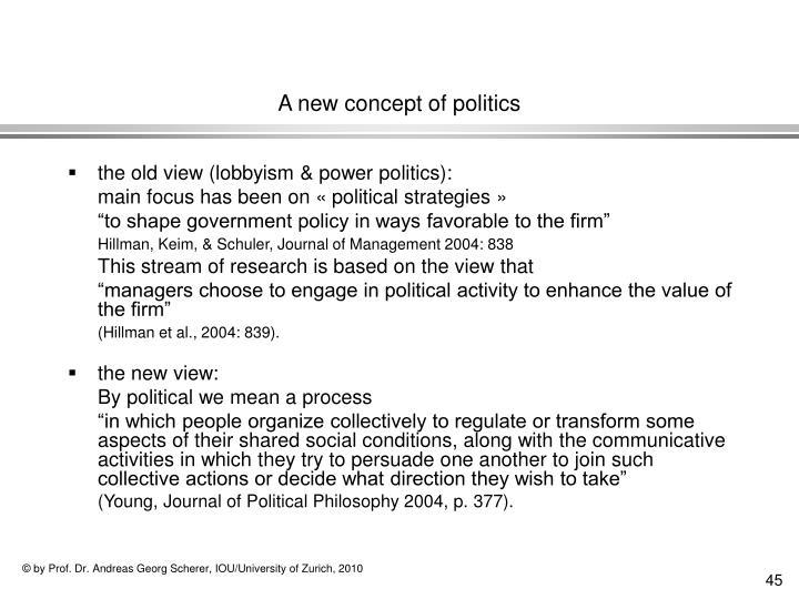A new concept of politics