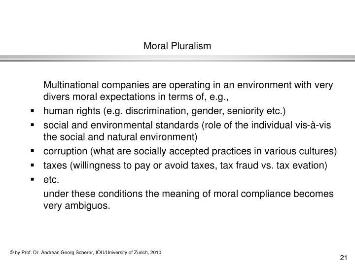 Moral Pluralism