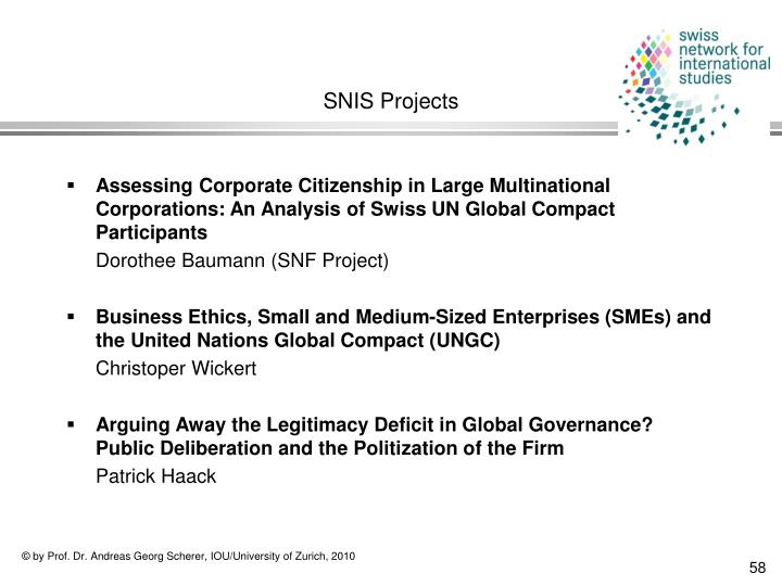 SNIS Projects