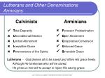 lutherans and other denominations armnians
