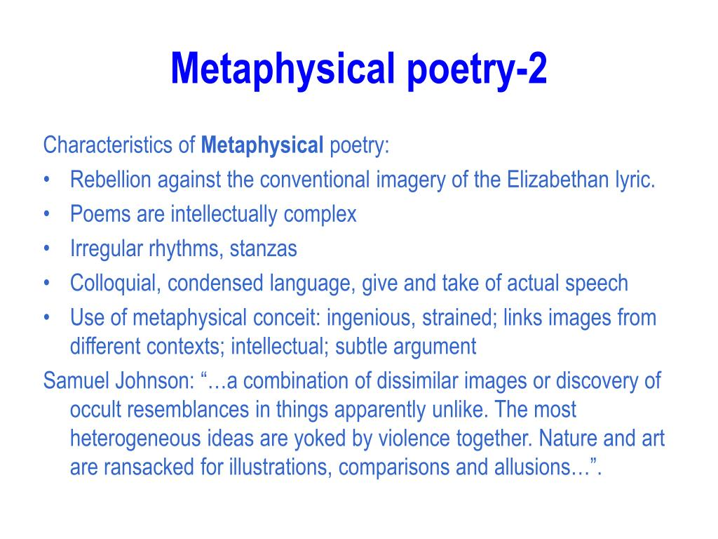 Metaphysical poetry-2