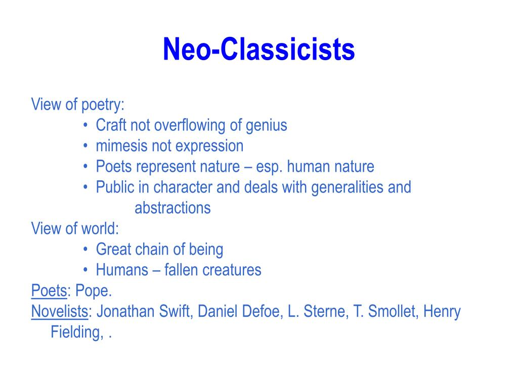 Neo-Classicists