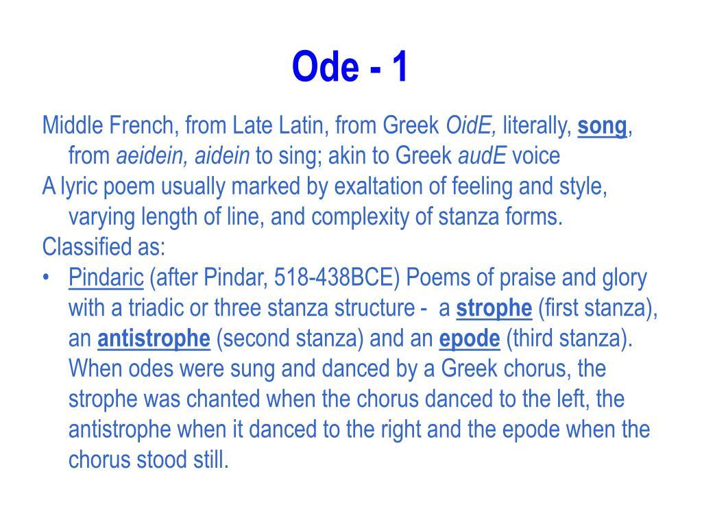Ode - 1