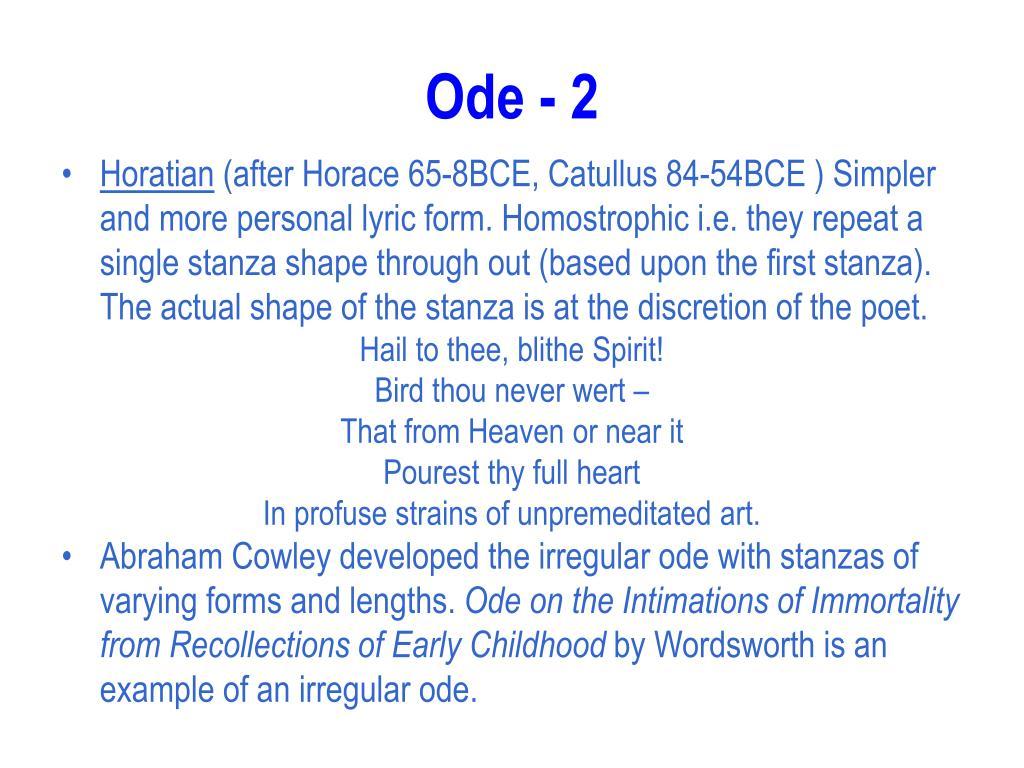 Ode - 2