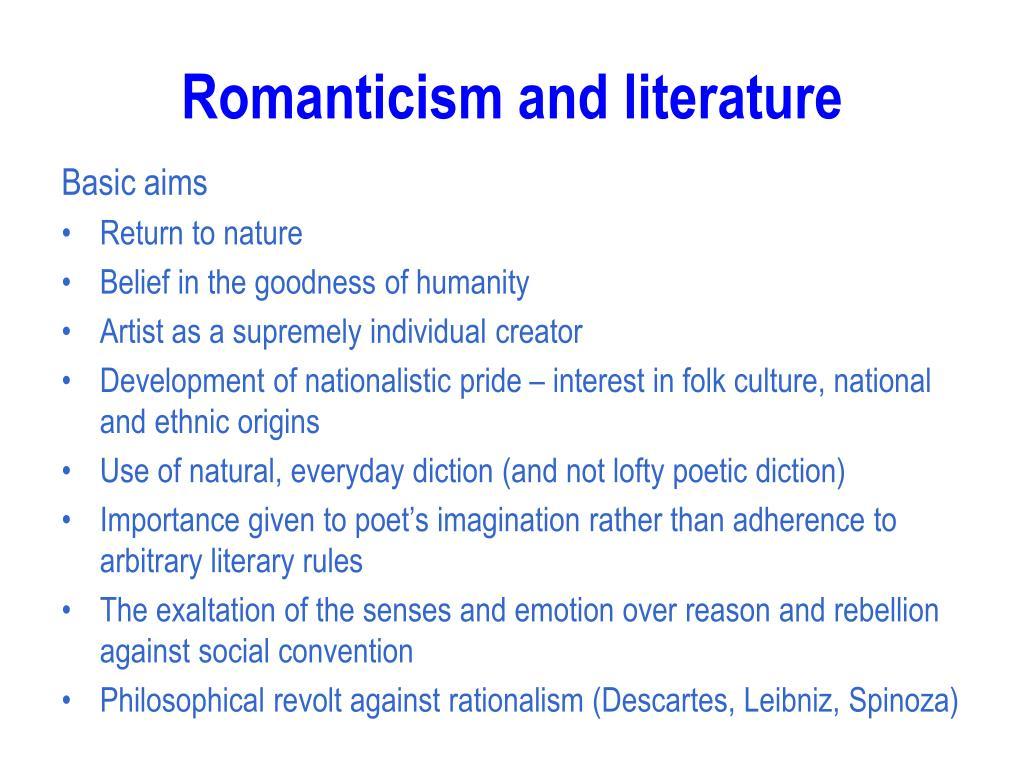 Romanticism and literature