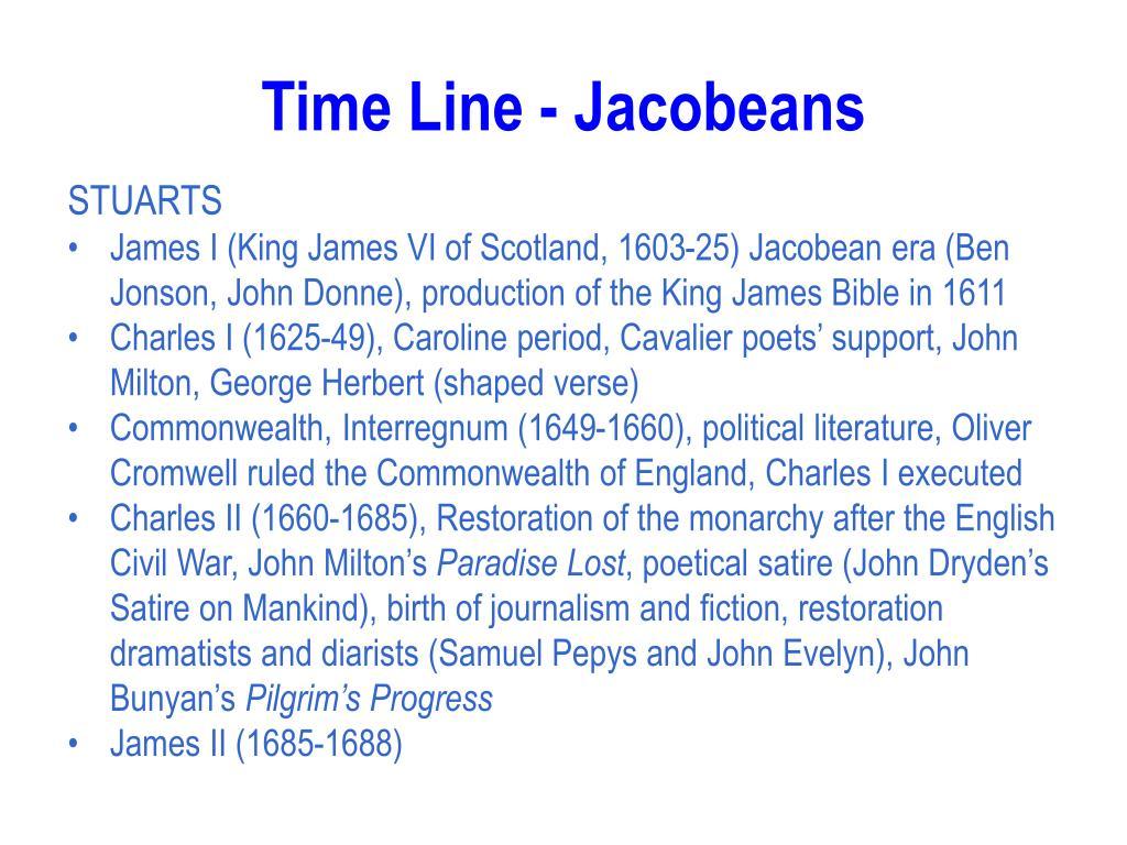 Time Line - Jacobeans