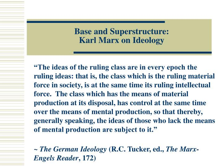 Base and superstructure karl marx on ideology