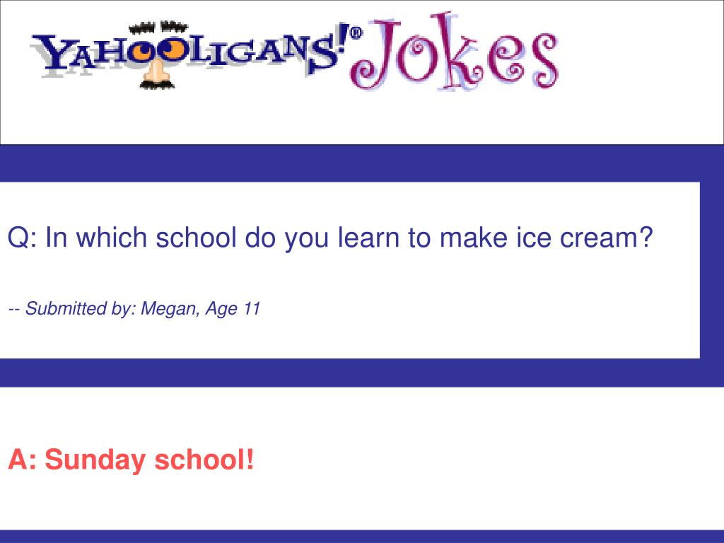 Q: In which school do you learn to make ice cream?