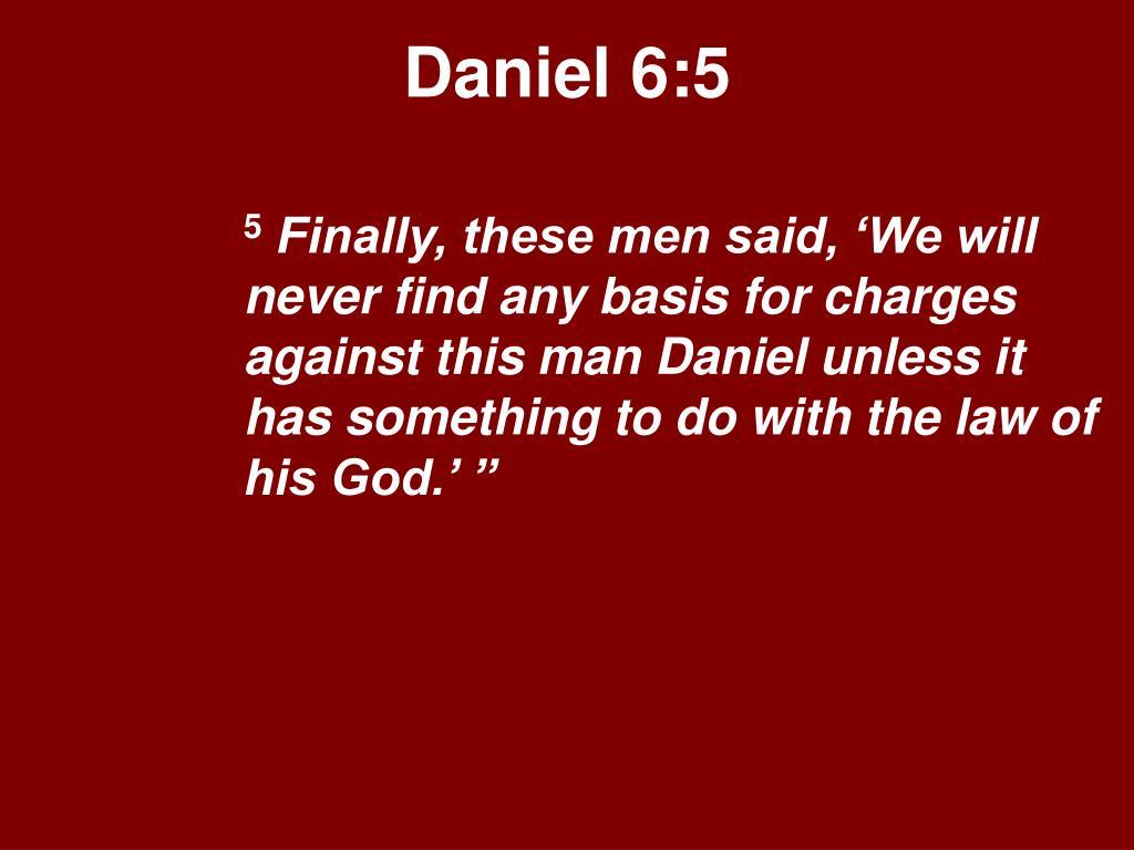 Daniel 6:5