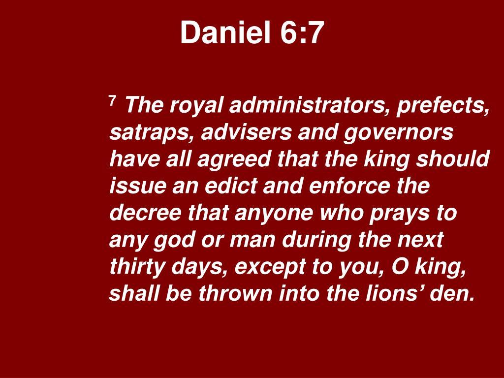 Daniel 6:7