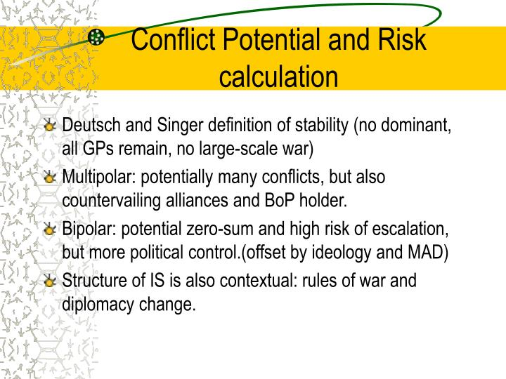 Conflict Potential and Risk calculation