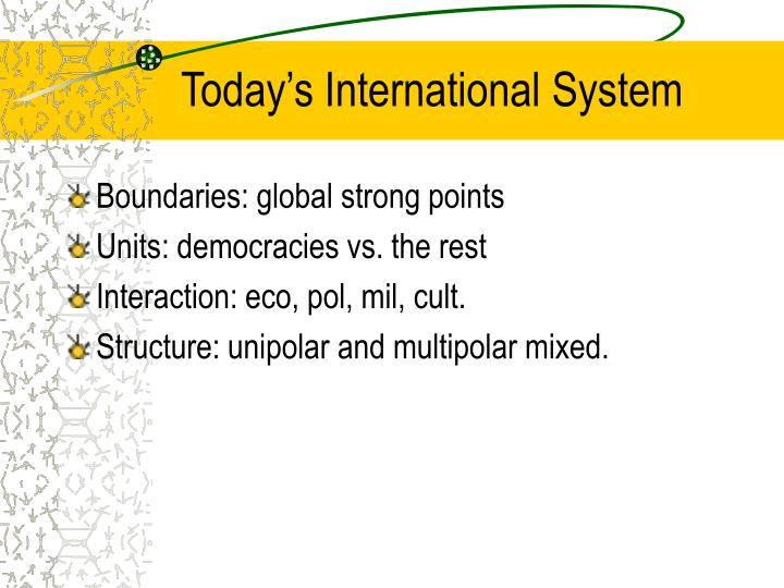 Today's International System