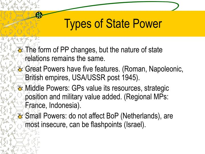 Types of state power