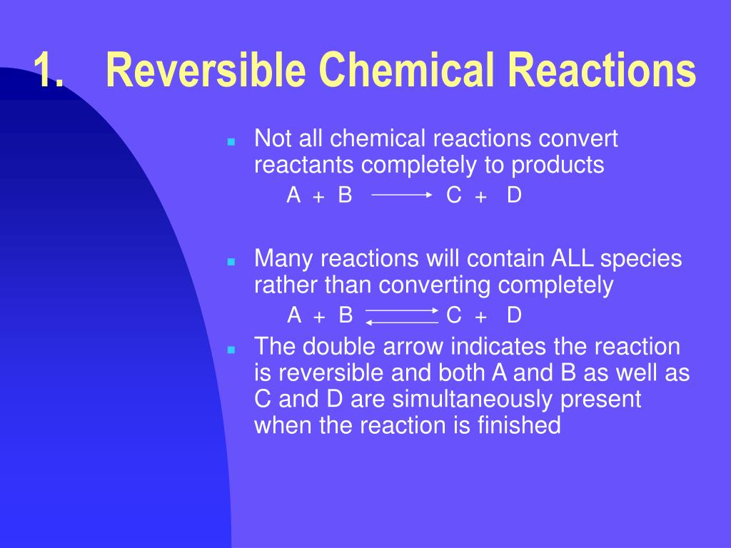 1.Reversible Chemical Reactions